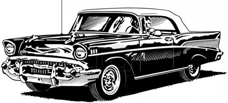 Retro Convertible 57 Chevy
