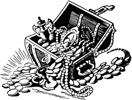 Illustration for Treasure Chest - Royalty Free Image