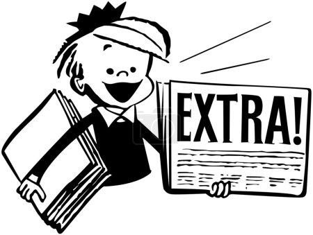 Illustration for Newspaper Boy - Royalty Free Image