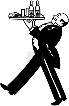 Illustration for Butler - Royalty Free Image