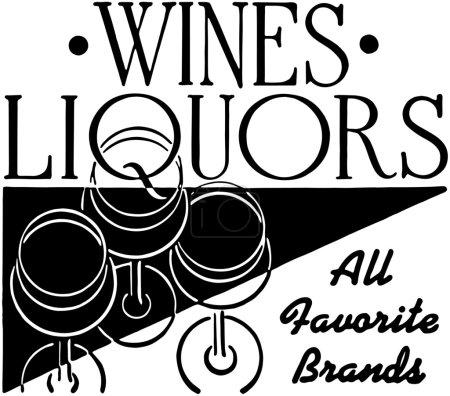 Illustration for Wines Liquors - Royalty Free Image