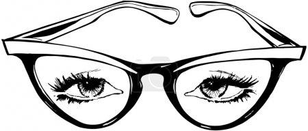 Photo for Cat Eye Glasses - Royalty Free Image