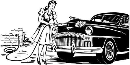 Illustration for Hand Car Wash - Royalty Free Image