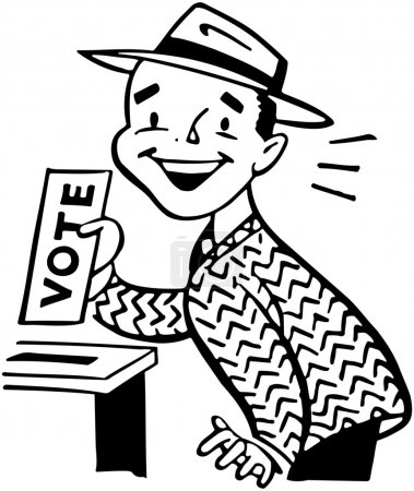 Illustration for Man Voting - Royalty Free Image