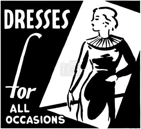 Illustration pour Robes pour toutes les Occasions - image libre de droit