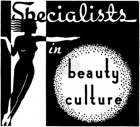 Illustration pour Spécialistes de la Culture de beauté - image libre de droit