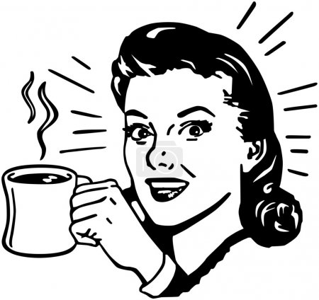 Photo for Coffee Gal - Royalty Free Image