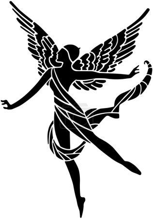 Illustration pour Art déco à ailes déesse - image libre de droit