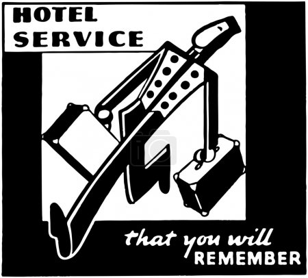 Illustration for Hotel Service - Royalty Free Image