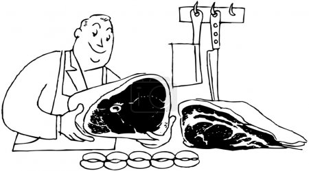 Illustration for Butcher - Royalty Free Image