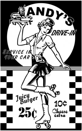 Photo for Carhop - Royalty Free Image