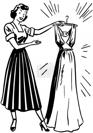 Illustration for Lady With Clean Dress - Royalty Free Image