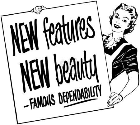 Illustration for Showcard Girl - Royalty Free Image