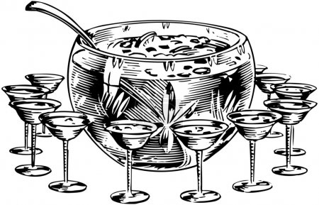 Illustration for Punch Bowl - Royalty Free Image