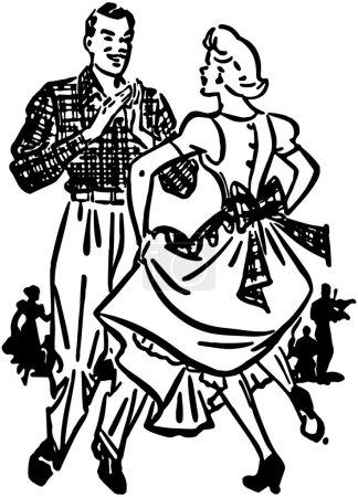 Illustration for Square Dancers - Royalty Free Image