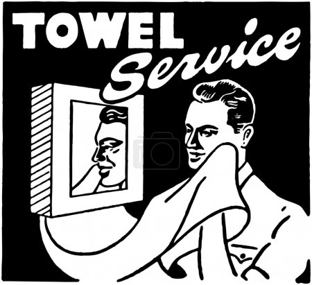 Illustration for Towel Service - Royalty Free Image