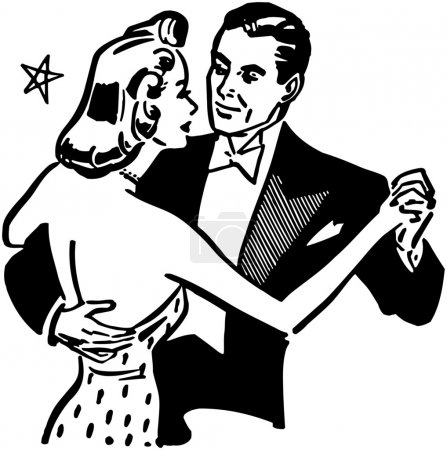 Illustration for Dance Couple - Royalty Free Image