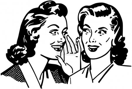 Illustration for Gossiping Women - Royalty Free Image