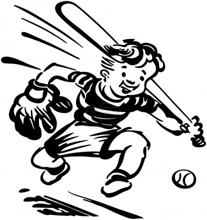 Illustration for Baseball Kid - Royalty Free Image