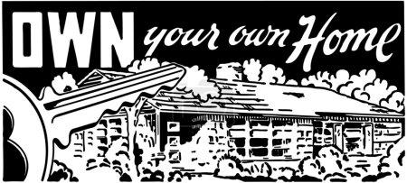 Illustration pour Posséder votre propre maison - image libre de droit