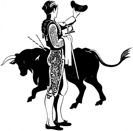 Illustration for Matador With Bull - Royalty Free Image
