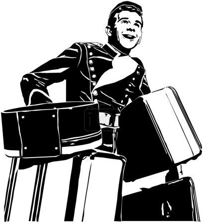 Illustration for Bellhop - Royalty Free Image