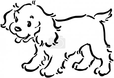 Illustration for Cute Puppy Dog - Royalty Free Image