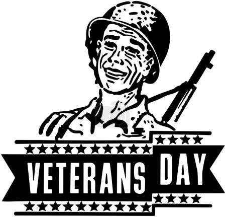 Illustration pour Bannière de jour des anciens combattants - image libre de droit