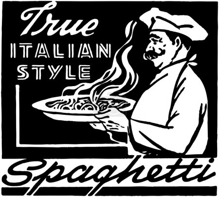 Illustration for Italian Style Spaghetti - Royalty Free Image