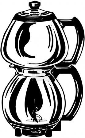 Illustration for Drip Coffee Pot - Royalty Free Image