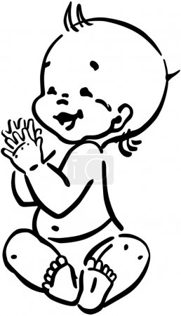 Illustration for Happy Baby - Royalty Free Image