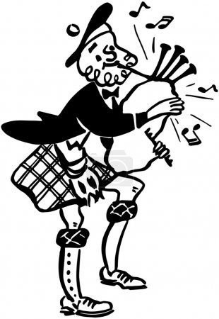 Illustration for Bagpiper - Royalty Free Image