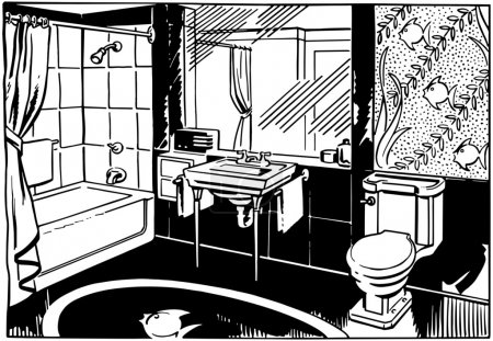 Illustration for Bathroom - Royalty Free Image