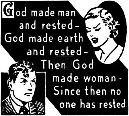 Illustration for God Made Man - Royalty Free Image