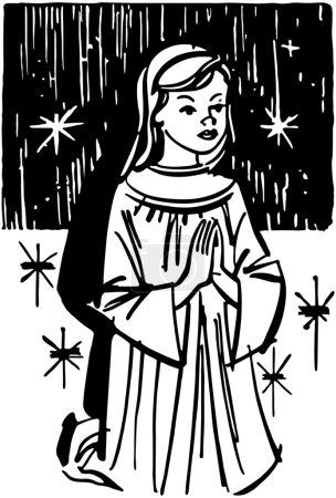 Girl Kneeling In Prayer