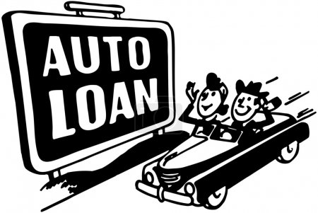 Illustration for Auto Loans - Royalty Free Image