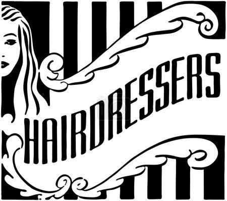 Illustration pour Salon de coiffure - image libre de droit