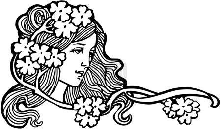 Illustration pour Fille de fleur - image libre de droit