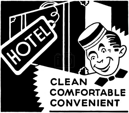 Illustration for Hotel Clean Comfortable - Royalty Free Image