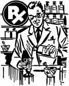 Pharmacist Mixing Medicine