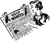 Gal Reading Help Wanted Ads