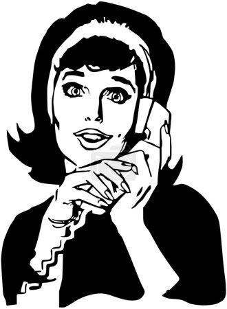 Illustration pour Tiens le téléphone. - image libre de droit