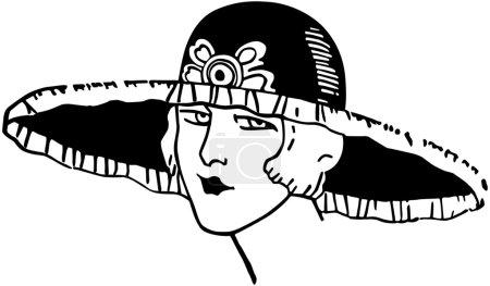 Illustration pour Déco élégant Gal - image libre de droit