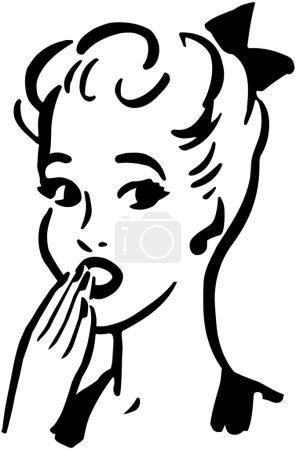Illustration pour Femme consternée - image libre de droit
