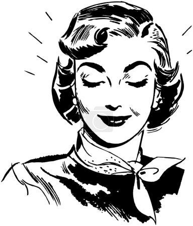 Illustration pour Femme rayonnante - image libre de droit