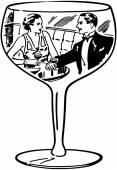 Couple In Wine Glass
