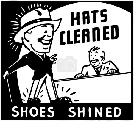 Illustration for Hats Cleaned - Royalty Free Image