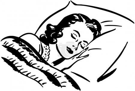Illustration for Sleeping Woman - Royalty Free Image