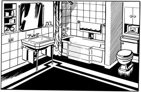 Illustration for Bathroom - Royalty Free Image