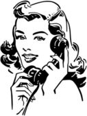 Vintage woman talking on the phone